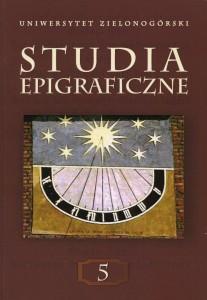 Studia epigraficzne 5